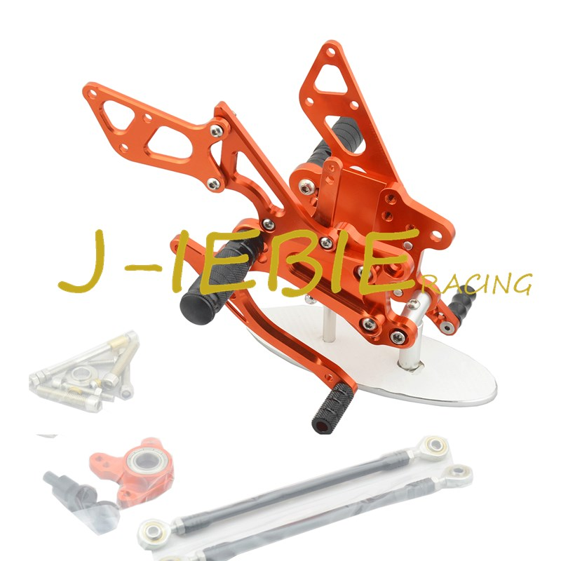 CNC Racing Rearset Adjustable Rear Sets Foot pegs Fit For Honda CBR600RR 2003-2006 CBR1000RR 2004 2005 2006 2007 ORANGE подвеска me to you мишка тедди 20х30 см