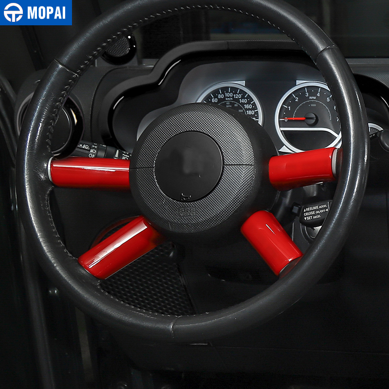 Image 3 - MOPAI Car Interior Steering Wheel Decoration Cover Trim Sticker for Jeep Wrangler JK 2007 2008 2009 2010 Car Accessories Styling-in Steering Covers from Automobiles & Motorcycles