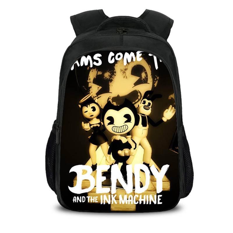 Bendy And The Ink Machine Backpack Boys Girls Cartoon Children Backpacks Famous Game Kids School Bags Bookbag Backpack