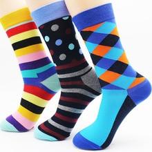 New men s high quality cotton diamond socks fashion stripes cheap leisure gifts socks wholesale 3