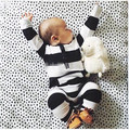 2017 новый стиль детская одежда мальчик одежды симпатичные полосой Длинным рукавом ребенка Ползунки восхождение новорожденных одежда детская одежда набор