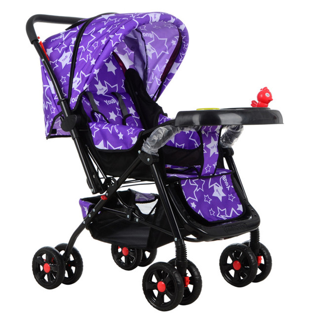 High landscape baby stroller foldable sitting and lying four seasons general BB car
