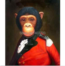 HIGH QUALITY ANIMAL OIL PAINTING ON CANVAS : MONKEY General 24X36 (no framed)