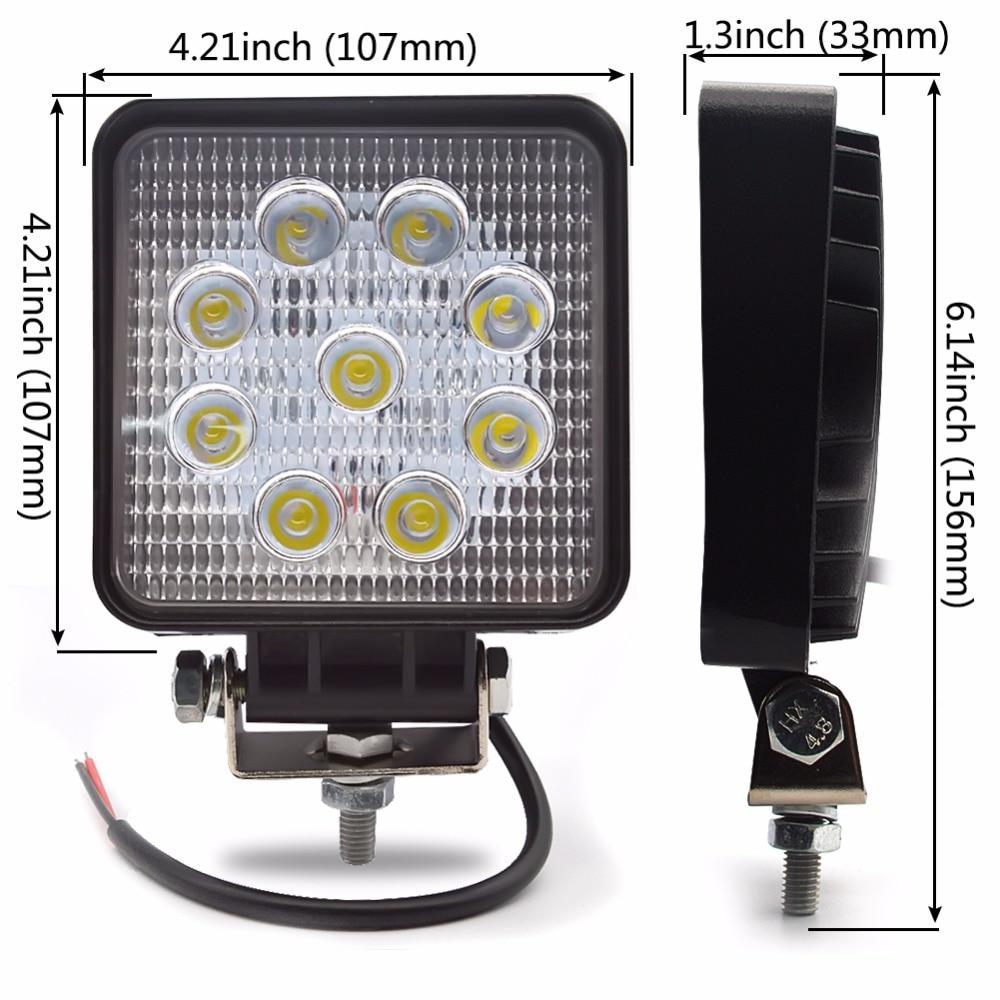 10 pcs LED Kerja Ringan 27 W dipimpin mengemudi cahaya 12 V 24 V Spot - Lampu mobil - Foto 6