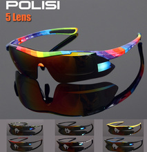 2016 Cool Men Women Cycling Glasses UV400 Outdoor Sports Windproof Eyewear Mountain Bike Bicycle MTB Glasses Sunglasses 5 Lens