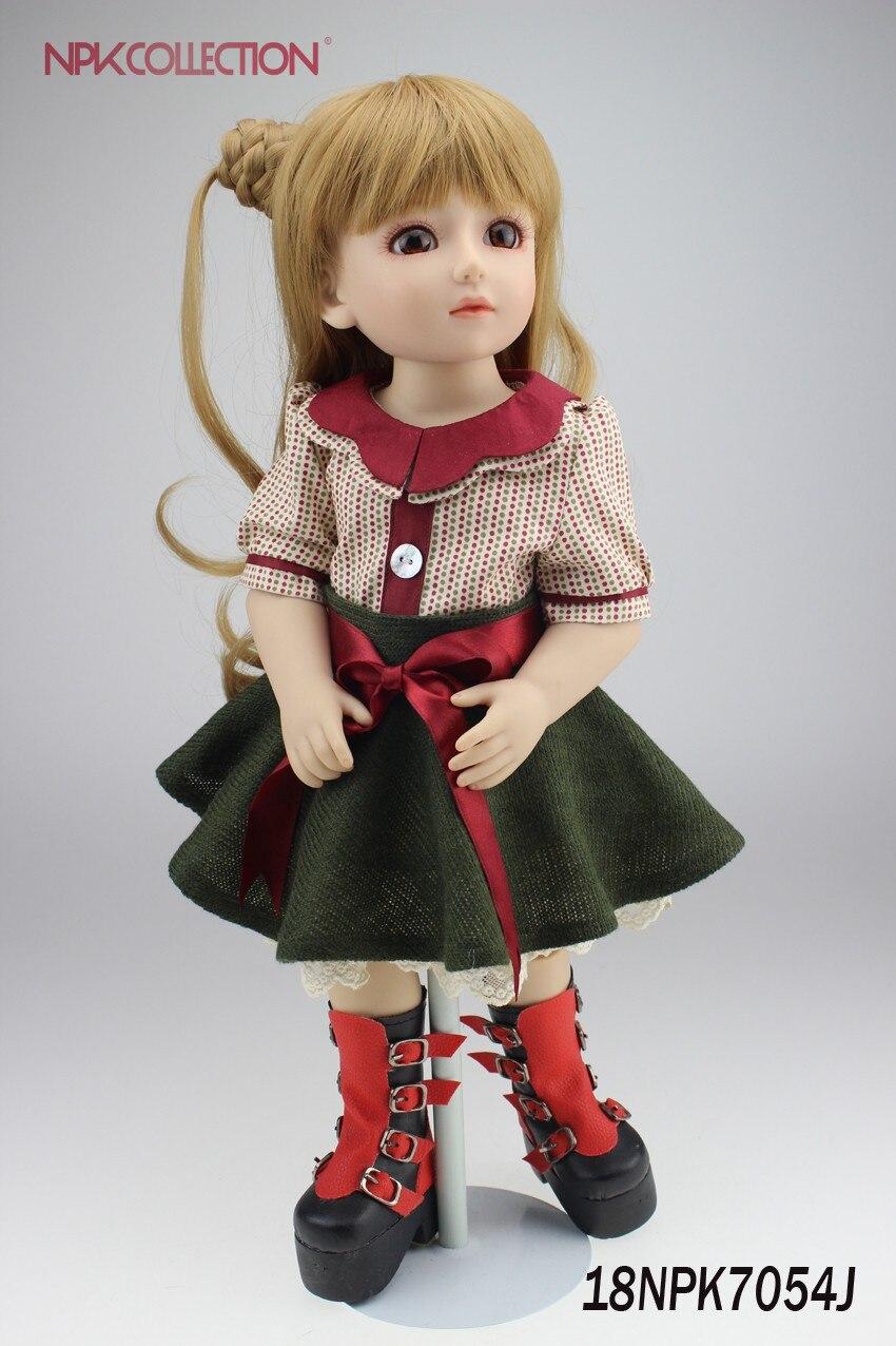 NPK Горячая распродажа! куклы для детей SD/BJD куклы 18 дюймов наивысшего качества ручной работы Кукла девочка