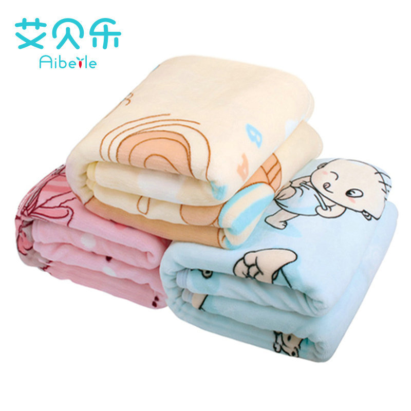 AiBeiLe 2017 New High Quality! Flannel Baby Blanket Newborn Super Soft Cartoon Blankets 100*110 Cm For Beds Thick Warm Kid new baby swaddles knit baby blanket newborn swaddle wrap super soft baby nap receiving blanket animal manta cobertor bebe