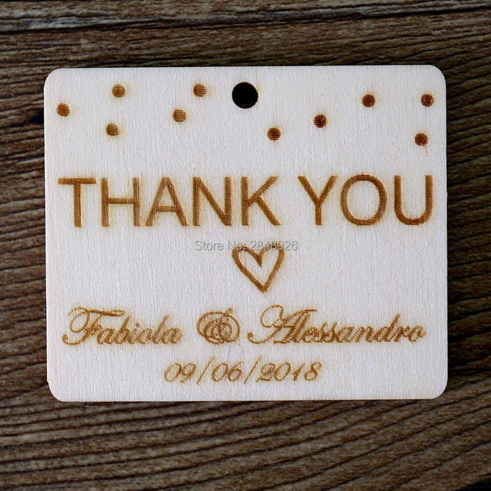 Custom Wood Tags with name,Thanks you rustic wedding favor tags ...