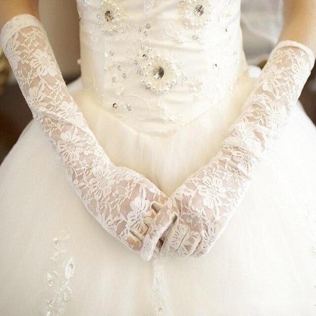 Maphia new arrival 2015 elbow comprimento luvas de noiva rendas de luxo flor luva vestido de noiva acessórios de noiva luvas de dedos
