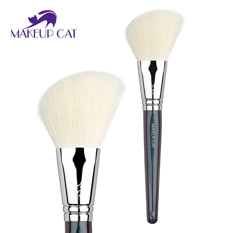 спрей brelil professional beauty hair bb powder New Brand Makeup cat Goat Hair Mixed Synthetic Fiber Angle Powder brush Professional Beauty Makeup Tool Face Powder Brush 100