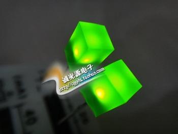 5X5X7 5*5*7 zielone zielone światło żółte zielone światło-lampa diodowa emitująca światło jasne Pu LED kwadratowa dioda tanie i dobre opinie liser Rj45 Mężczyzna Green 4661213 in stock