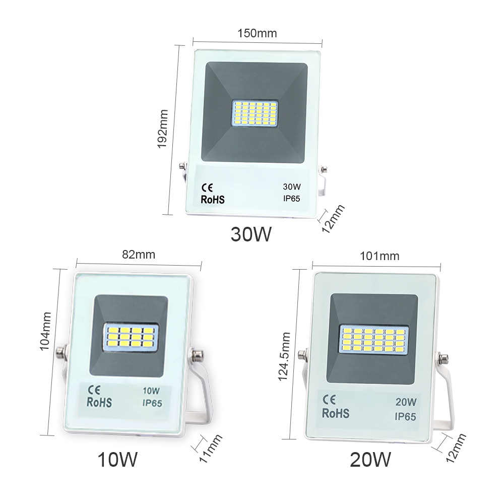 2019 new 10w 20w 30w 50w 70w 100w led flood light AC176-264V square search floodlights led lamp recessed led outdoor lights