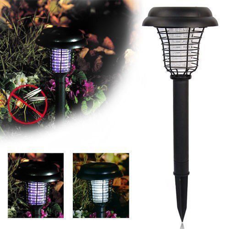 Creative Solar Powered Outdoor Insect Mosquito Killer Bug Zapper Garden Led Lawn Light Excellent In Cushion Effect Home & Garden