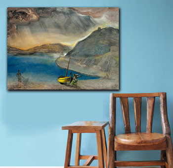 Salvador Dali port Lligat landscape, before the storm, 1956 Printed on Canvas Painting For Living Room Home Decor Wall Pictures 2