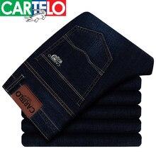 Cartelo/марка 2017 новый дизайн бренда джинсы мода повседневная темно-синий брюки для мужчин осень высокое качество марка джинсы мужчины