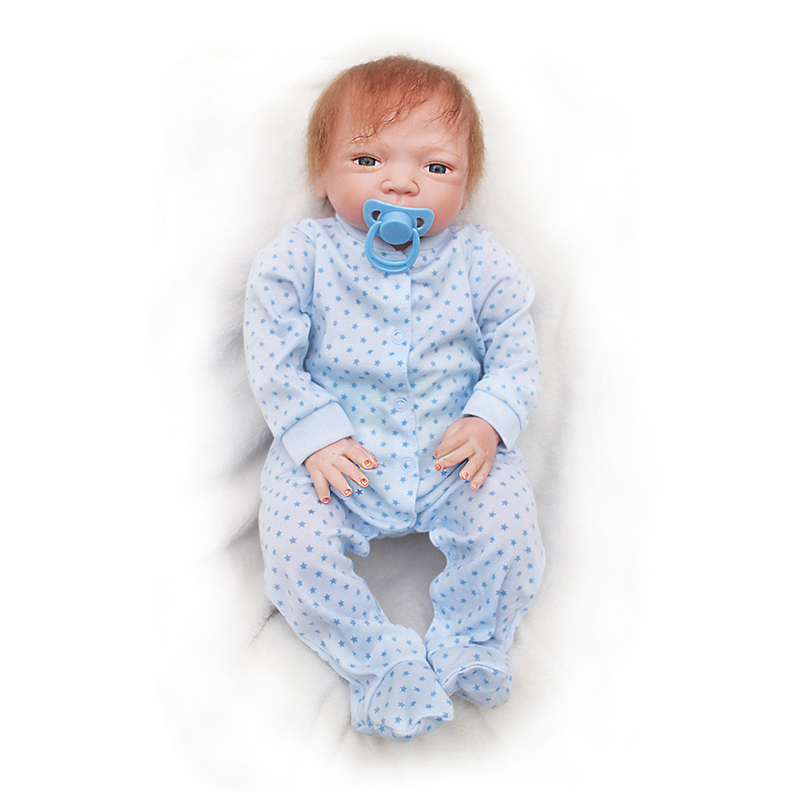 46cm Newborn Baby Silicone Dolls Baby Toys Doll Reborn Soft Silicone Baby Reborn Toy Baby Doll Toddlers Doll Toys For Kid in Dolls from Toys Hobbies