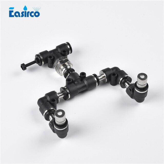 (1 set/pacco) 6mm (OD) connettore Rettile Fogger di Mister con 2 pz collegamento