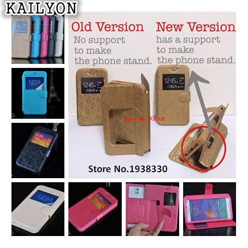 KAILYON Fashion PU Leather Flip case for Highscreen Alpha R case Luxury Case with view window Back Cover  F2