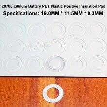 100pcs/lot 20700 lithium battery accessories PET plastic positive hollow head gasket original
