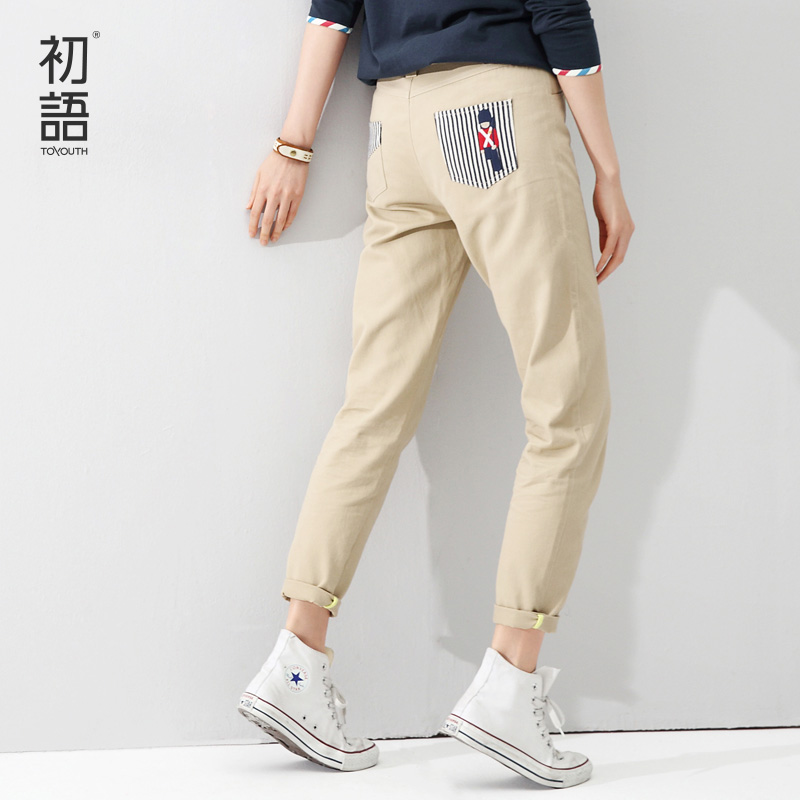 Unique Khaki Cargo Pants Women 2017 Multi Pocket Trouser Causal Military