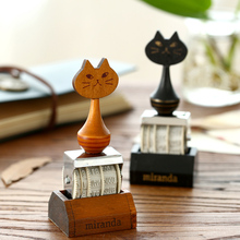 1 X vintage cat roller stamp diary stamps for scrapbooking DIY stationery zakka decal material escolar school supplies