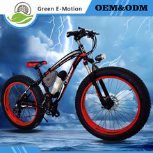 2016 New 36V350W Lithium Battery Electric Snow Bike Mountain Bike 24 Speed Electric Bicycle Black/Green/Yellow/Blue Road Cycling