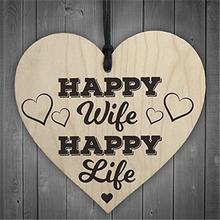 Счастливая жена счастливая жизнь деревянные в форме сердца ремесла