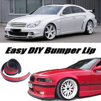 Bumper Lip For Mercedes Benz CLS MB W218 C218 W219 C219 / Front Skirt Deflector Spoiler For Car Tuning / Body Kit + Strip