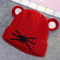 2016 Baby Hat autumn and winter new children's hat cartoon shape male infant knitted cap