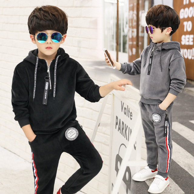 57a13df01 teenage 9 10 11 years old children clothing boys sweatershirt+pants suits  boy tracksuits costume winter infantil menino kids new