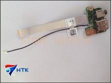 Подлинная для dell latitude e5520 i/o аудио usb-порт совет ж/кабель 2 nhkm 02 nhkm