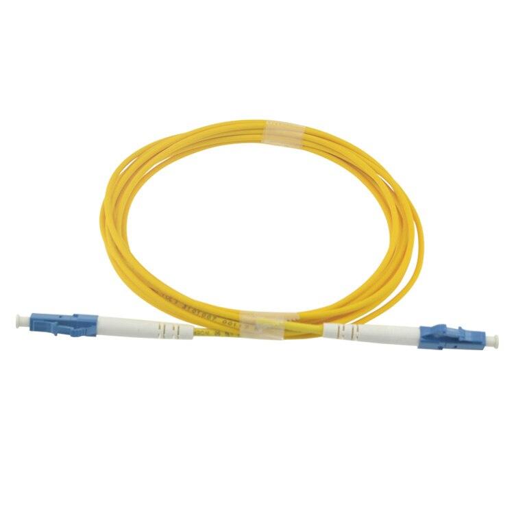 bilder für 10 Teile/beutel 3 Mt LC UPC Simplex singlemode lwl-patchkabel LC 3 Mt Simplex 3,0mm FTTH fiber optic jumper kostenloser versand