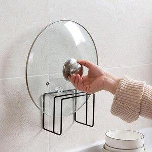 Image 3 - Paslanmaz Çelik Tava tencere kapağı Kapaklar Raf Depolama Mutfak Bulaşık Plakası Katlanır Organizatör çorba kaşığı Dinlendirir raflı stand Kaşık Tutucular