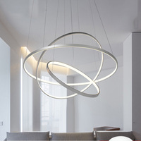 BWART Modern LED Chandelier Luxury Living Room Led Lamp Large Ring Frames Hanging Lighting Fixtures Chandeliers