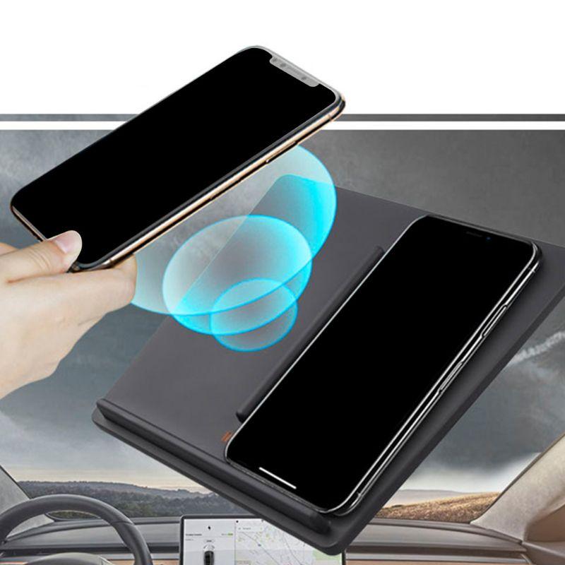 Chargeur rapide sans fil support de chargeur avec deux Ports USB pour Tesla modèle 3 accessoires de Console centrale double chargeur Mobile 2019New