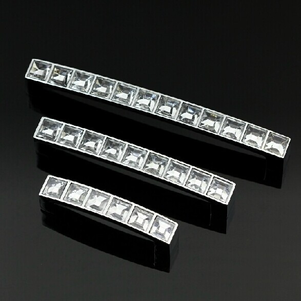 5 modern simple clear crystal kitchen cabinet wardrobe pull 128mm silver chrome dresser cupboard handle glass