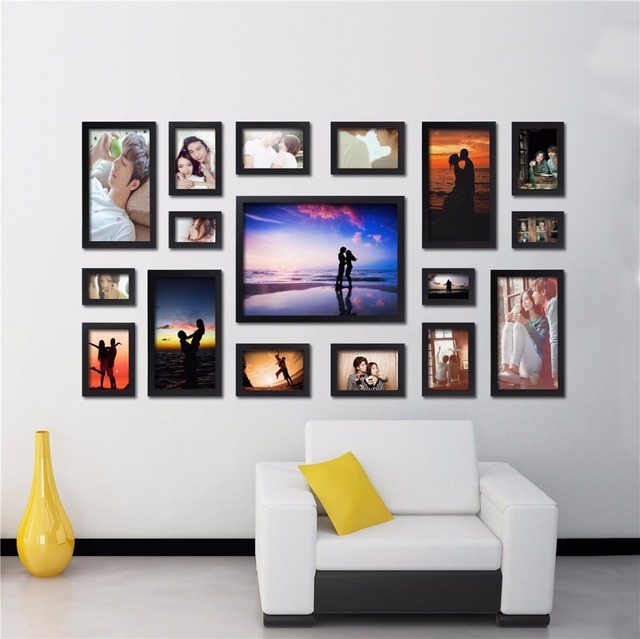 Porta retrato Creative Gift Home Decoration DIY Wood Photo Frame Wall  Picture Album High Quality. Frames Decoration