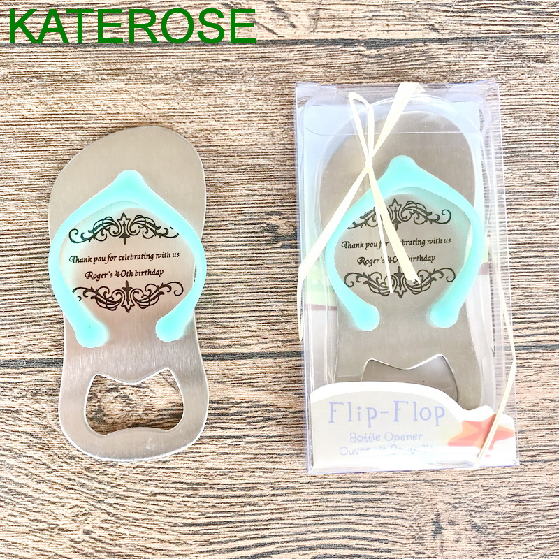 a7a3a52ecdf1fd 96PCS Customized Light Blue Flip Flop Bottle Opener Thong Beer Openers  Beach Wedding Favors Bomboniere Bridal Party Giveaways-in Party Favors from  Home ...