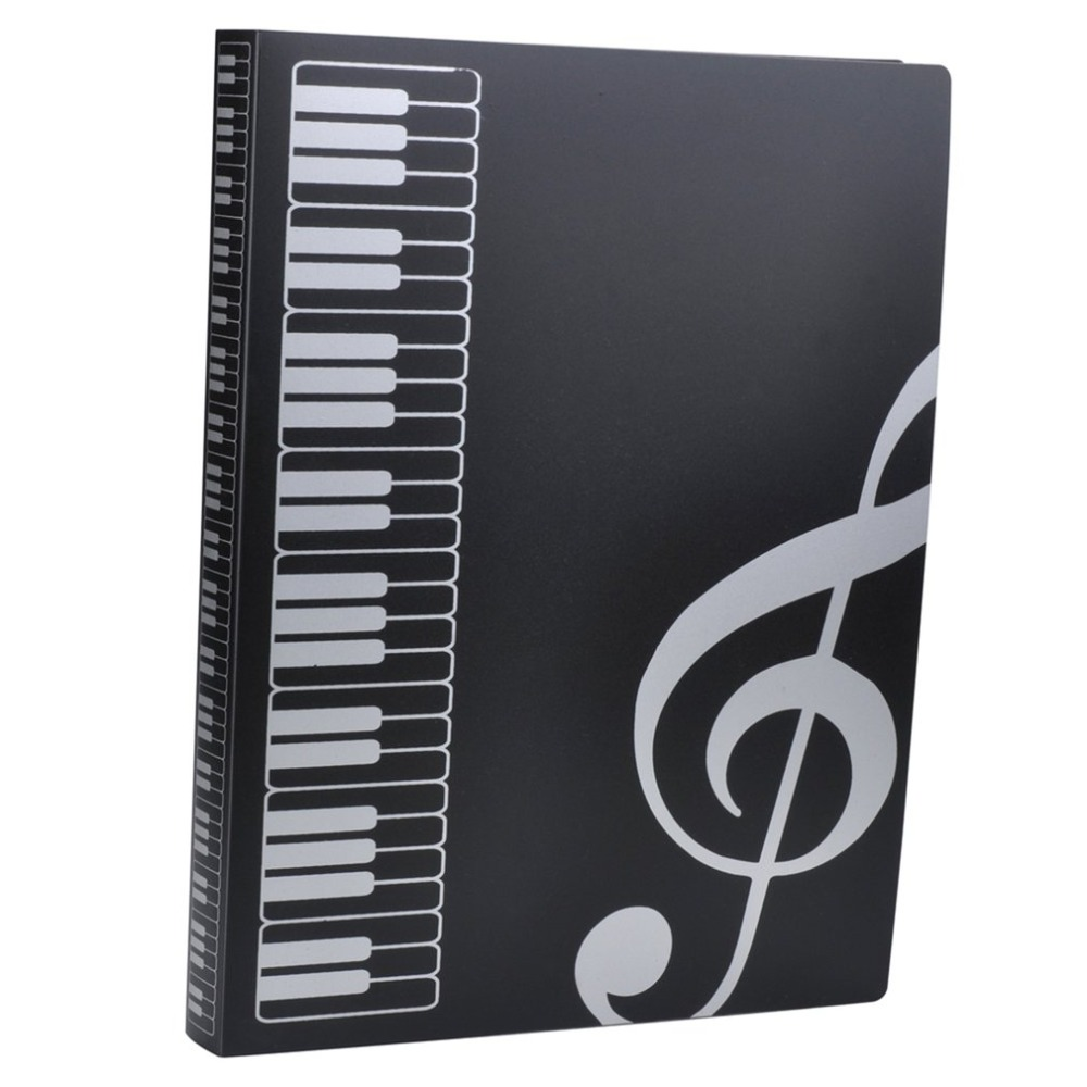 MIRUI 40 Sheets A4 Music Book Folders Piano Score Band Choral Insert-type Folder Music Supplies Waterproof File Storage Product