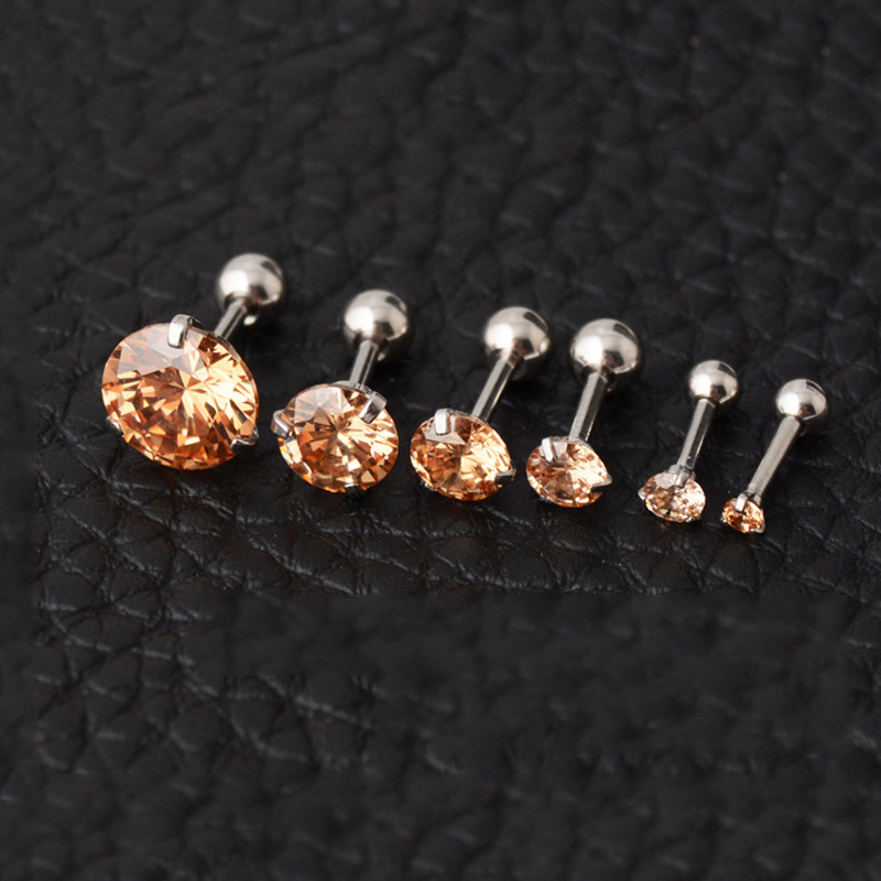 MoAndy Silver Plated Women Stud Earring Black Artificial Pearl White Pin Pierced