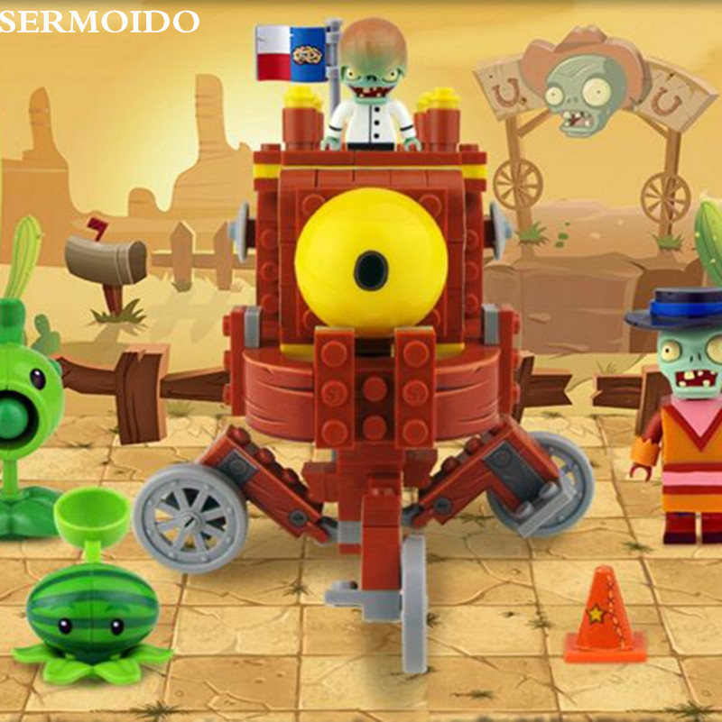 Plants vs Zombies Struck Game Boss Pirate Harbor Building Blocks Toys For Children Brinquedos Toy Compatible Bela XD53 in Blocks from Toys Hobbies