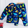 Shipping Kid Pajama Three Layer Thickening Flannel Warm Cotton Pajamas Sets Long Sleeved Casual Home Furnishing Sleepwear Suit