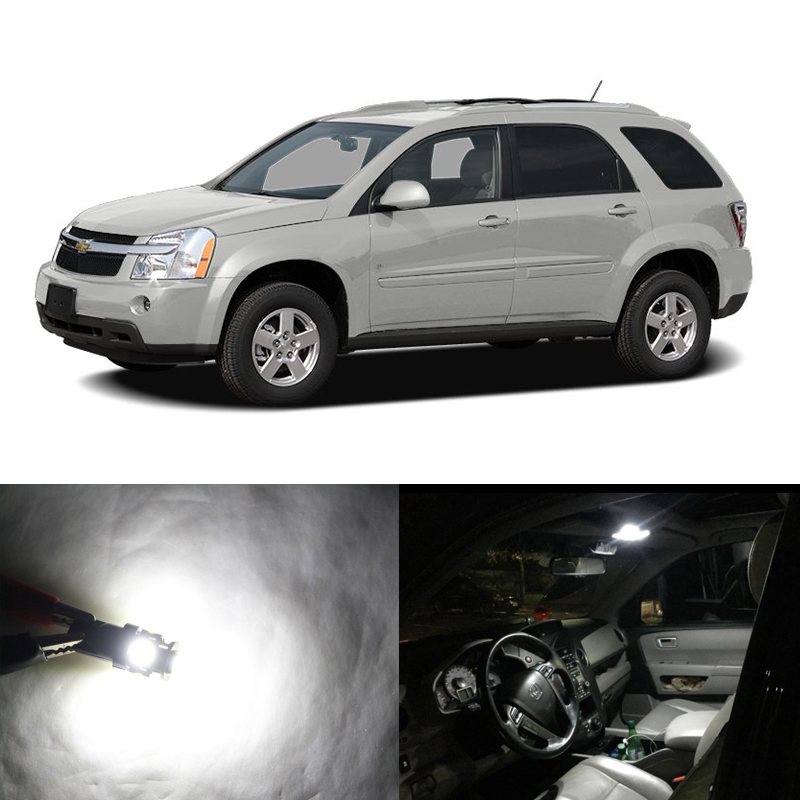 7PCs Canbus No Error Led Interior Package Light Bulbs For <font><b>Chevrolet</b></font> <font><b>Chevy</b></font> <font><b>Equinox</b></font> 05-09 Map Dome Trunk Cargo License Plate Lamp