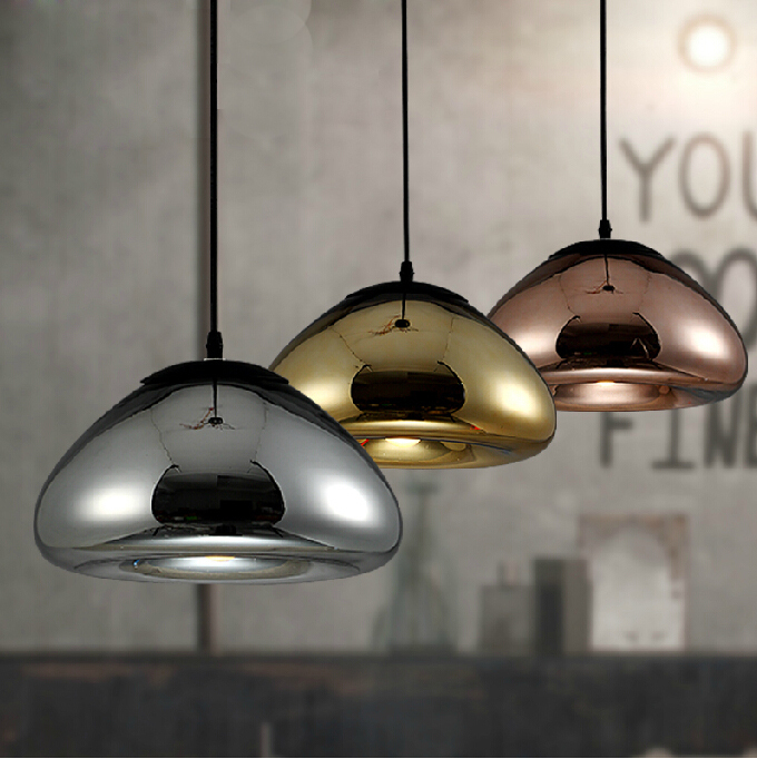 30CM light Void Copper Brass Bowl Mirror Glass Bar Art Modern E27 LED Pendant Lamp Hanging Wire Lighting chandelier Lights brass half round ball shade pendant light led vintage copper wooden lighting fixture brass wood fabric wire pendant lamp