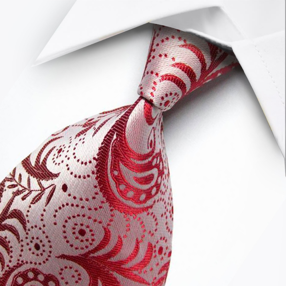 T3 Men's Classic Gold Blue Red Paisley Ties For Men