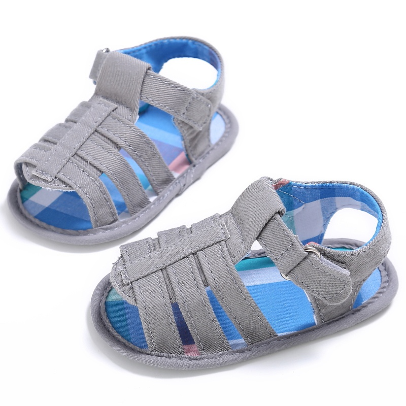 2017 0-18M New Style Summer Kids Boys Girls Canvas First Walker Shoe Baby Fashion Non-slip Shoes