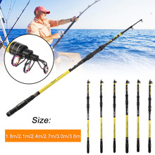 2017 New 1.8/2.1/2.4/2.7/3/3.6M Portable Super Hard Casting Fishing Pole Outdoor Travel High Durability Fishing Fishing Rod Pole