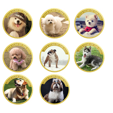24k 999.9 Gold Plated Metal Coin Home Decorative The Year of Dog Commemorative Coins for New Gifts