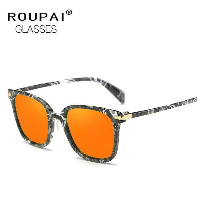 ROUPAI Fashion Brand New Men Woman Classic Polarized Sunglasses Camo Frame Cool Oculos De Sol Lunettes Colorful Eyewear EW119