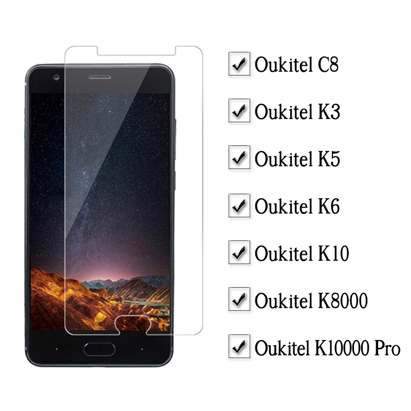 Protective Glass For Oukitel K3 K5 K6 K10 C8 K8000 K10000 Pro Screen Protector On 3k 5k 6k 10k K 3 5 6 10 8000 C 8 Tempered Glas Cellphones & Telecommunications Mobile Phone Accessories